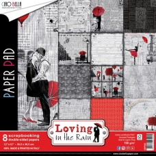 "Loving In The Rain Double-Sided Paper Pack 90lb 12""X12"" 8/Pk"