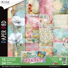 "Sound Of Spring Double-Sided Paper Pack 90lb 12""X12"" 12/Pkg"