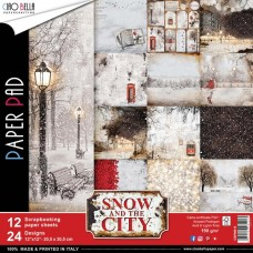 "Snow & The City Double-Sided Paper Pack 90lb 12""X12"" 12/Pkg"