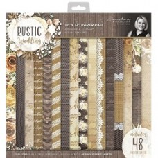 Sara Signature Rustic Wedding 12x12 Paper Pad (48 sheets)