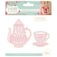 Sara Signature Collection - Vintage Tea Party - Metal Die - Afternoon Tea