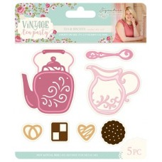 Sara Signature Collection - Vintage Tea Party - Metal Die - Tea & Biscuits