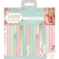 "Sara Signature Collection - Vintage Tea Party - 6"" x 6"" Paper Pad"