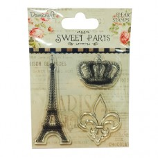 Dovecraft Sweet Paris Clear Stamps - Eiffel Tower