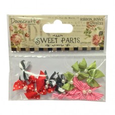 Dovecraft Sweet Paris Mini Ribbon Bows