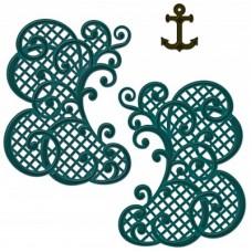 Heartfelt Creations Decorative Lattice Swirl Die