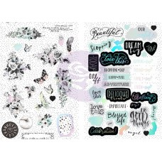 Flirty Fleur Chipboard Stickers