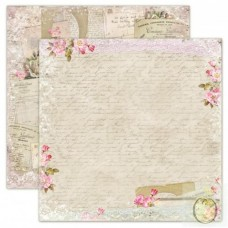 Lemoncraft Double sided scrapbooking paper, House of Roses - Old Letters
