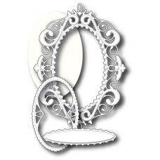Memory Box - DIES- Palace Oval Frame Set- 4 Dies