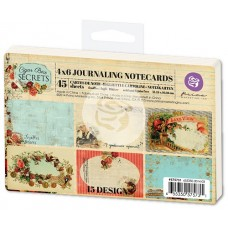 "PRIMA 4"" x 6"" Journaling Notecards - Cigar Box Secrets"
