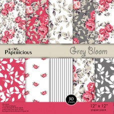 Papericious Gray Bloom 12X12