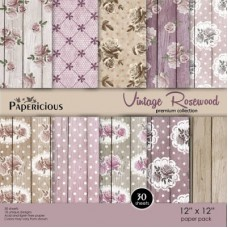 Papericious Vintage Rosewood 12X12