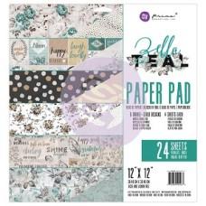 Prima Zella Teal - 12x12 Paper Pad