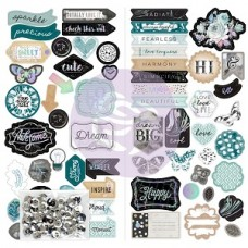 Prima Zella Teal - Chipboard