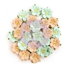 "Prima Zella Teal- Flowers ""Blissful Delight"""