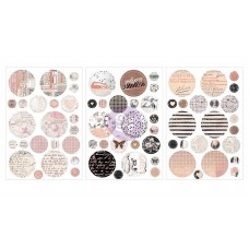 Prima Amelia Rose - Circle Stickers with foil