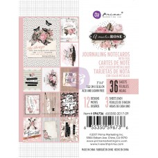 Prima Amelia Rose - 3x4 Journaling Cards