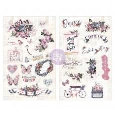 Prima Lavender - Chipboard Stickers