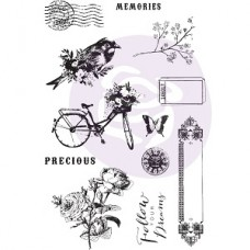 Prima Georgia Blues Cling Stamps & Stencil