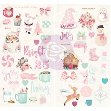 Santa Baby Chipboard Stickers