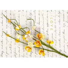 Prima Divine Solid Flower Vine - Yellow - 3pc per pkg.