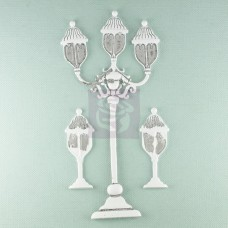 Prima Shabby Chic Metal Treasures Street Lamps