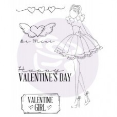 Prima Julie Nutting - 4x6 Cling Stamp - Love Day