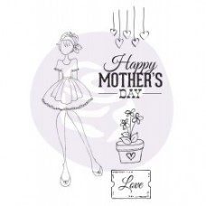 Prima Julie Nutting  - 4x6 Cling Stamp - Mama's Day