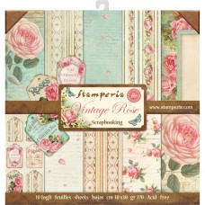 Stamperia 12x12 Vintage Rose