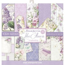 Stamperia 12x12 Lilac Flowers