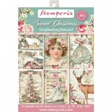 "Stamperia Sweet Christmas Cards Pad 4.5""X6.5"""