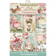 "Stamperia Pink Christmas Cards Pad 4.5""X6.5"""