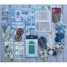 Stamperia Blissful Blue Christmas Kit