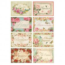 Stamperia A4 Rice Paper -   TAGS WITH WORDS