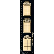 Dusty Attic Mini Arch Window - 3pc per pkg