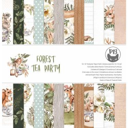 P13 PAPER PAD FOREST TEA PARTY 12X12