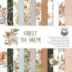 P13 PAPER PAD FOREST TEA PARTY 8X8