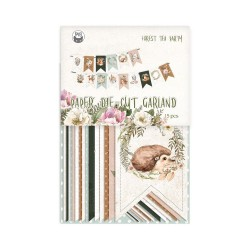 P13 PAPER PAD FOREST TEA PARTY BANNER SET