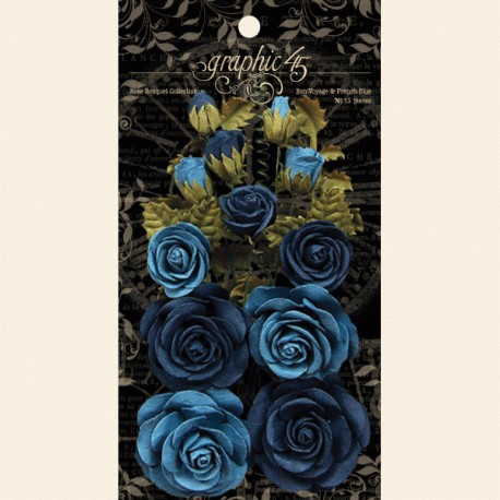 Rose Bouquet Collection Bon Voyage & French Blue