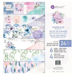Watercolor Floral Collection 12x12 Paper Pad