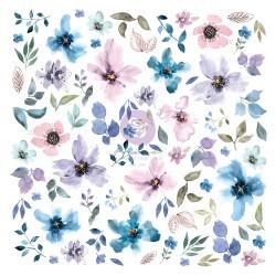 Watercolor Floral Collection Ephemera - 77pcs