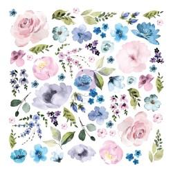 Watercolor Floral Collection Ephemera - 62 pcs