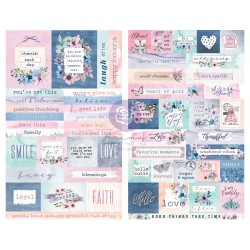 Watercolor Floral Collection Stickers - 2 sheets