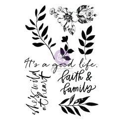 Watercolor Floral Collection Clear Stamp - 8 pcs