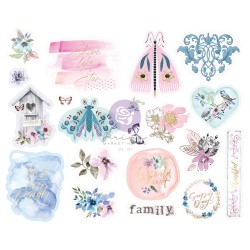 Watercolor Floral Collection Chipboard Stickers