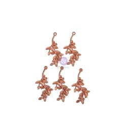 Watercolor Floral Collection Metal Charms - 5 pcs