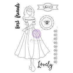 Julie Nutting Doll Stamp - Melissa - 6 pcs