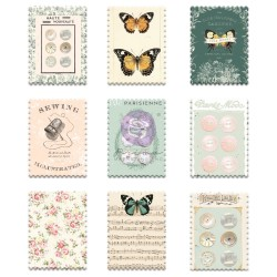 My Sweet Collection Wood Stickers - 9 pcs
