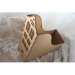 SCRAPINIEC OFFICE RING BINDER A4 - SINGLE MODULE TENEMENT HOUSE 03