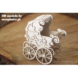 SCRAPINIEC 3D MODEL STROLLER - BABY STROLLER - FOR EXPLODING BOX 01